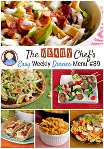 easy dinner menu ideas easy weekly dinner menu 89 summer dinner ideas the
