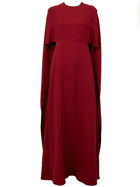 cape styles valentino cape style evening dress in red lyst