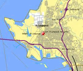 map of richmond california richmond ca zip code map zip code map