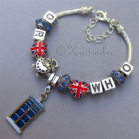 Handmade Bracelets Singapore - doctor who time lord companion european charm bracelet w
