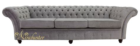 4 seater chesterfield sofa chesterfield balmoral 4 seater sofa settee azzuro silver