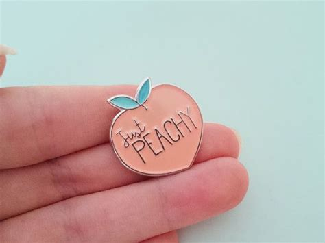 pin designer just peachy soft enamel pin this and peachy pin is and bright ready