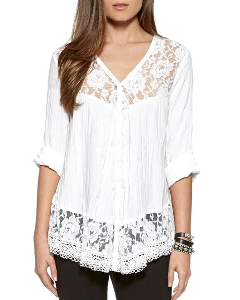 White Lace Skirt And Blouse by White Lace Trim Blouse Blouse No Bra
