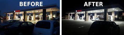 lights in station premier lighting study gas station led
