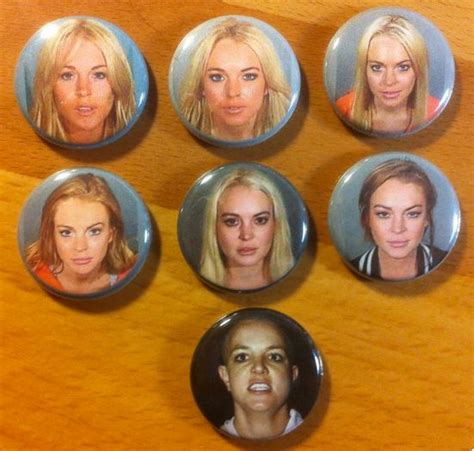 Lindsay Lohans Are Just A Button Away by Lindsay Lohan Mugshot Pinback Button Set With Special