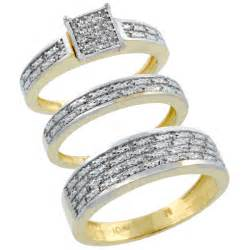 wedding ring set his and hers bridal sets his and hers gold bridal sets