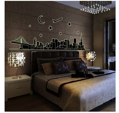 glow in the dark paint for bedroom walls glow in the dark london kids bedroom wall stickers
