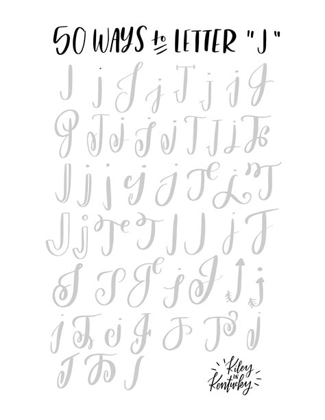 50 ways to letter quot j quot lettering 50th