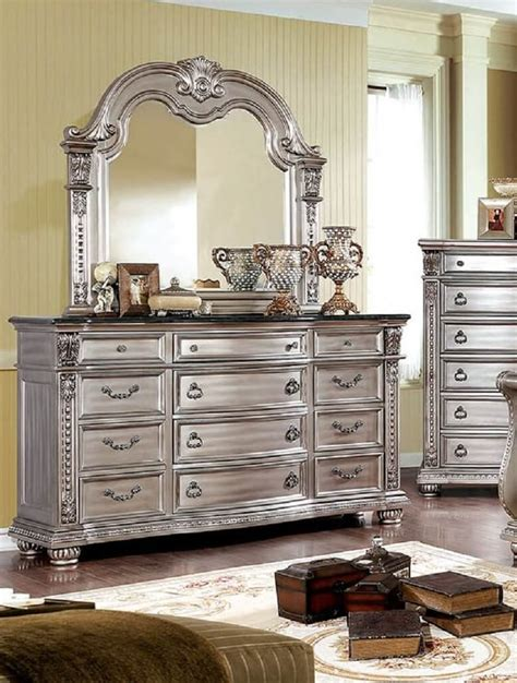marble top dresser bedroom set emerald home furnishings riviera 9 fromberg dresser with marble top chagne finish usa