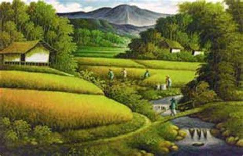 wallpaper lukisan bagus dyah ayusulistyaningrum lukisan pemandangan alam