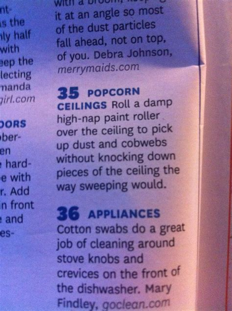 clean popcorn ceiling tips pinterest