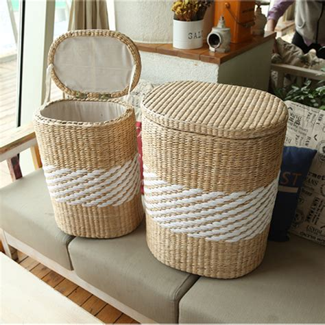 Rattan Bedroom Set small amp large home wood wicker rattan storage basket bin