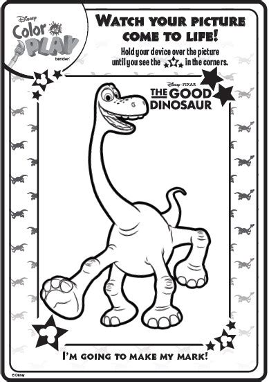 color play play disney dinosaur color coloring pages sketch