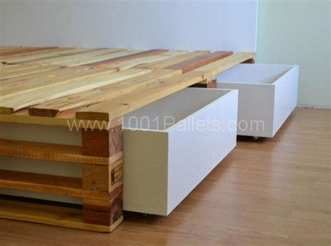 pallet bed with storage 1000 ideas about pallet bed frames on pinterest pallet
