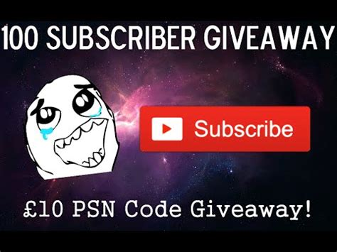 Psn Giveaway - 100 subscriber 163 10 psn code giveaway see description for details youtube