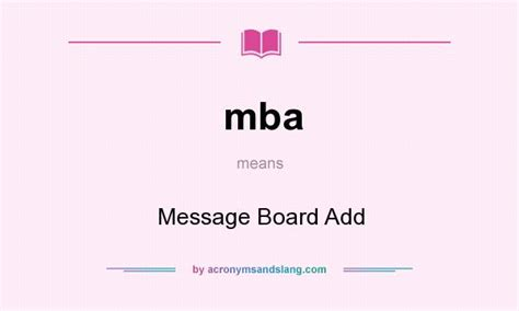 Mba Related Abbreviations by Mba Message Board Add In Undefined By Acronymsandslang