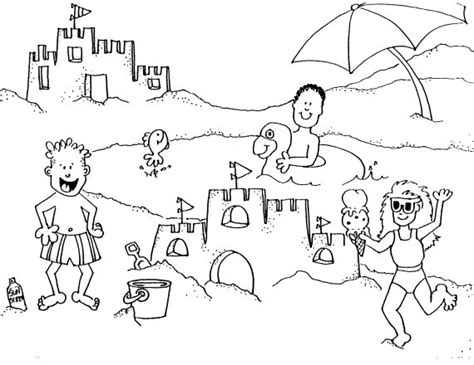beach coloring pages free printable pictures coloring