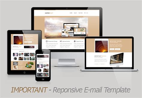 template email responsive important responsive email template themeforest