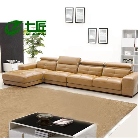 High End Leather Sectional Sofa Combination Of High End Modern Leather Sofa Leisure Sofa L Shaped Living Room Sofa Minimalist