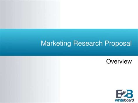 Marketing Mba Overview by Marketing Research Template