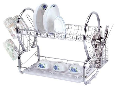 5 tier stainless steel chrome stainless steel 2 tier dish rack sk collection