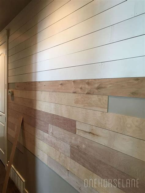 Nailing Shiplap Diy Shiplap Wall Easy Cheap And Beautiful Part 1