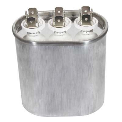 dual capacitors 25 7 5uf 440 volt oval dual run capacitor