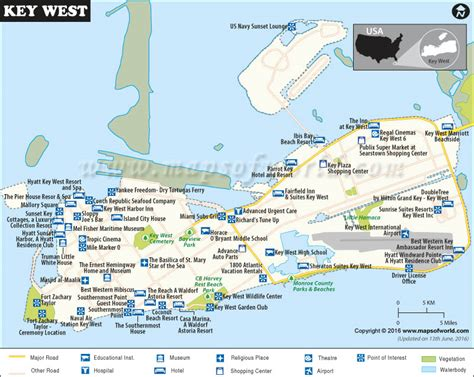 united states map with distance key key west map city map of key west florida