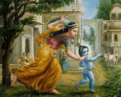a baby to bind his one with consequences books damodara lila yashoda binds lord krishna