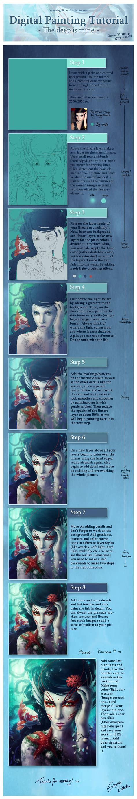 tutorial photoshop painting digital painting tutorial by jojoesart on deviantart