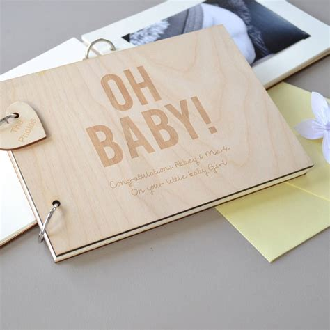 Baby Shower Guest by Personalised Baby Shower Guest Book By Clouds And Currents