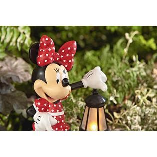 disney 17 quot minnie statue with solar lantern limited availability outdoor living outdoor