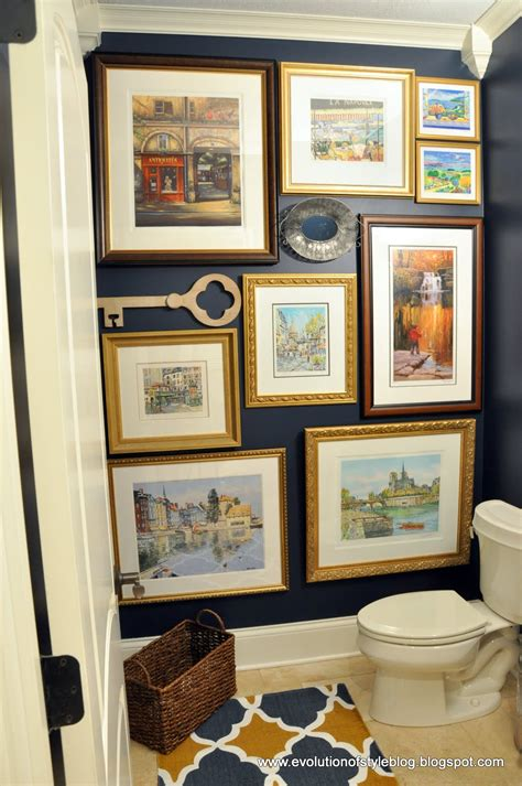 blue powder room evolution of style moody blue powder room reveal