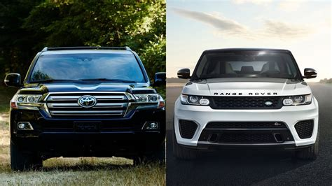 Toyota Land Rover 2016 Toyota Land Cruiser Vs 2016 Range Rover Sport