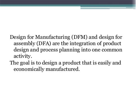 design for manufacturing and assembly handbook dfma design for manufacturing and assembly