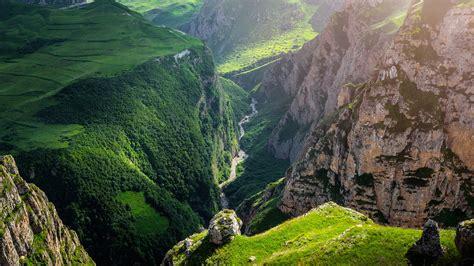 desktop wallpaper hd com picture guba azerbaijan rock nature canyon meadow 3840x2160