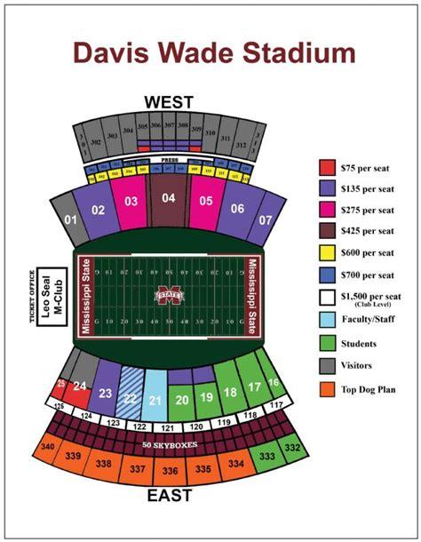 davis wade stadium seating chart seating davis wade stadium images