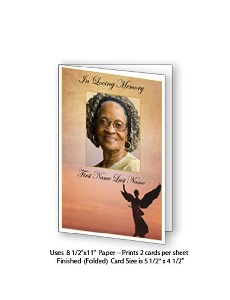 funeral memorial card template publisher free funeral programs funeral card template beloved
