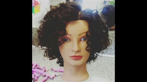 beauty school perm my first perm wrap for cosmetology school youtube