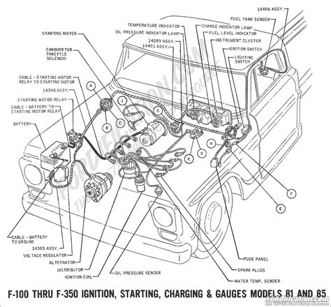 1972 ford f100 ke light wiring diagram accessories wiring