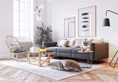 modern scandinavian apartment interior design with gray scandinavian interior design in a modern apartment home