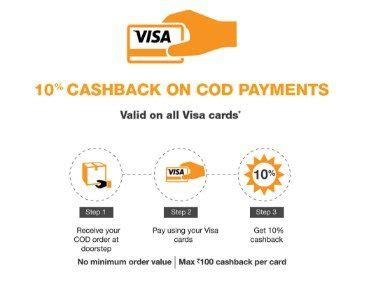 Visa Gift Card Delivery - amazon 10 cashback on cod orders visa cards on cash on delivery mar deals offers