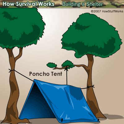 how to build a tent shelters using on hand materials shelters using on hand