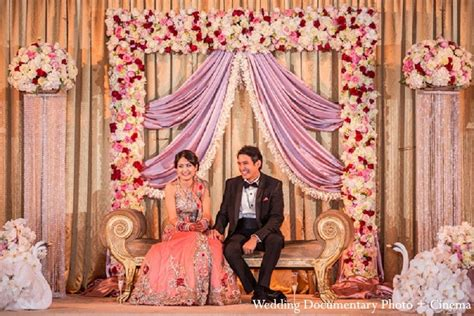 indian engagement decoration ideas home an indian bride and groom at their classy reception
