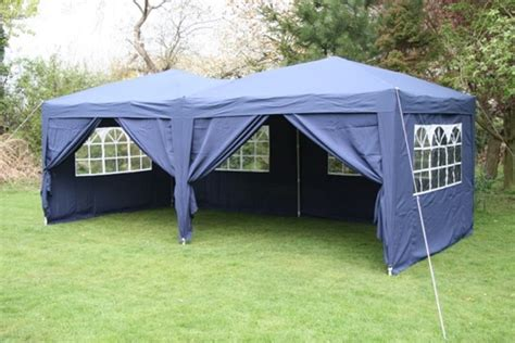 pop up gazebo airwave 6x3m blue pop up gazebo fully waterproof side