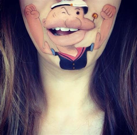 maquillage bouche perso dessin anime 06 la boite verte