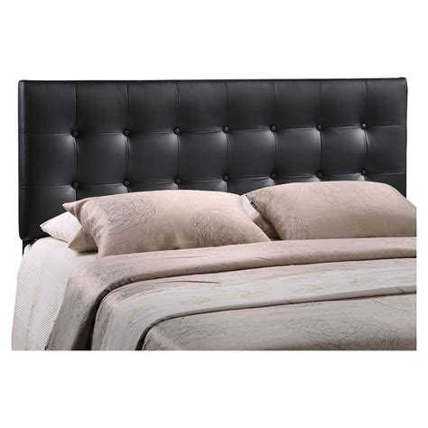 tufted black headboard emily leatherette headboard button tufted black dcg
