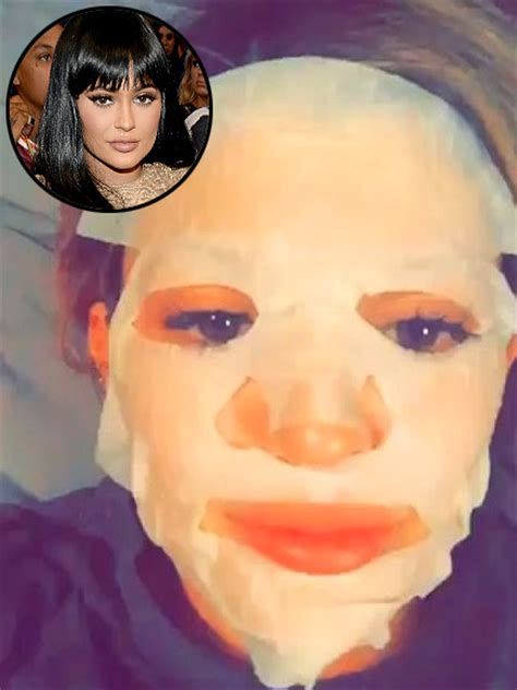 kylie jenner bed kylie jenner shows off bedtime facemask with tyga people com