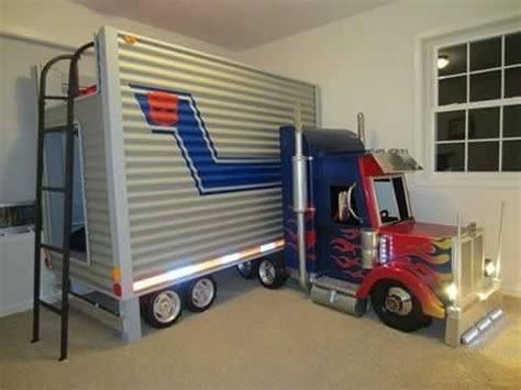 semi truck bed tractor trailer bunk bed nursery kids bedroom