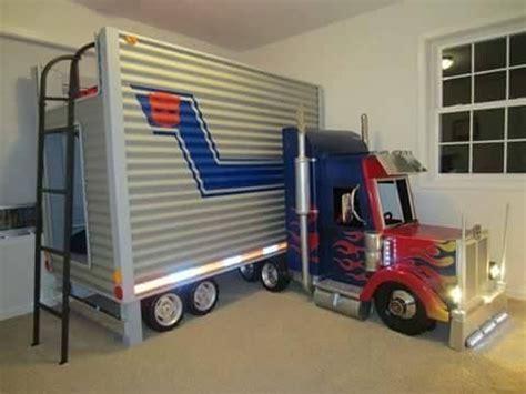 semi truck bed tractor trailer bunk bed nursery kids bedroom